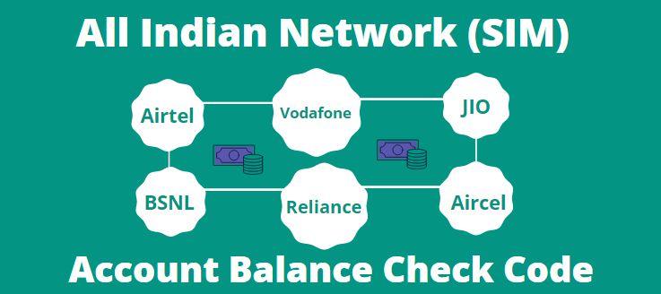 All SIM Balance Check Number Codes