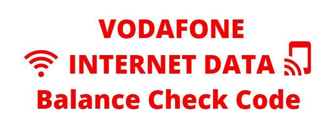Vodafone Internet Data Balance Check USSD Codes