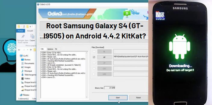 Root Samsung Galaxy S4 (GT-I9505) on Android 4.4.2 KitKat
