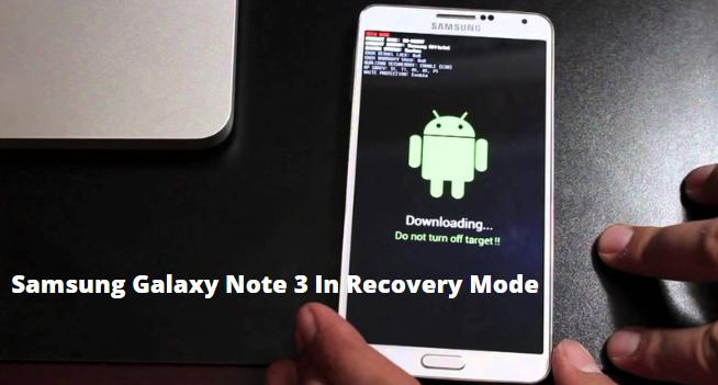 Samsung Galaxy Note 3 In Recovery Mode