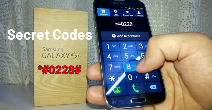 Secret Codes of Samsung Galaxy S4