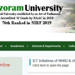 Mizoram University Phone Number, Contact Address, Email Id