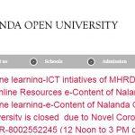Nalanda Open University Contact Number, Office Address, Email Id