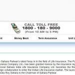 Sahara India Life Insurance Customer Care Number, Contact Address