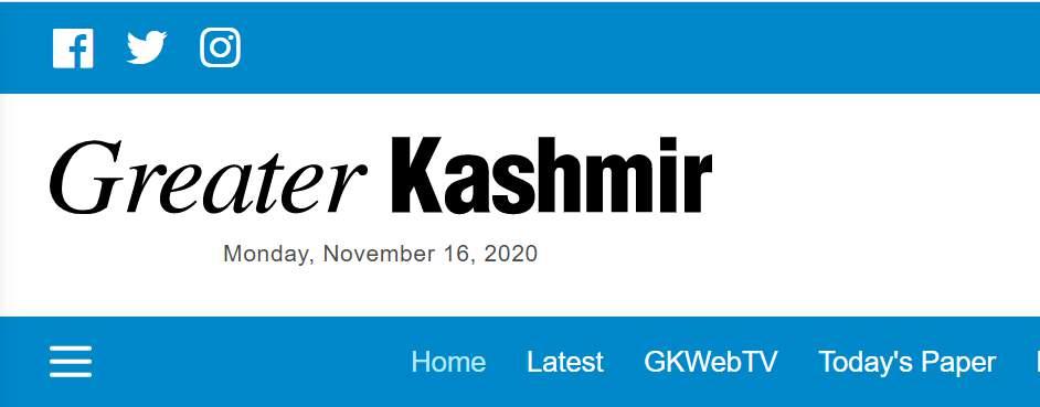 Greater Kashmir Newspaper